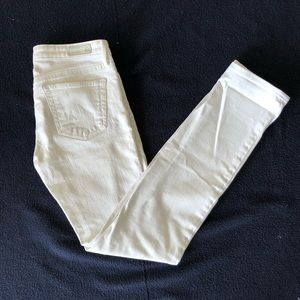 AG the Stevie Slim Straight White Jean